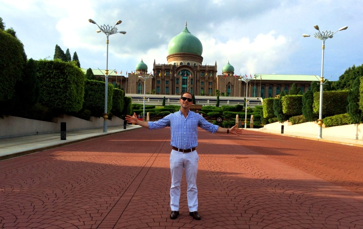 In front of the Prime Minister's palace.